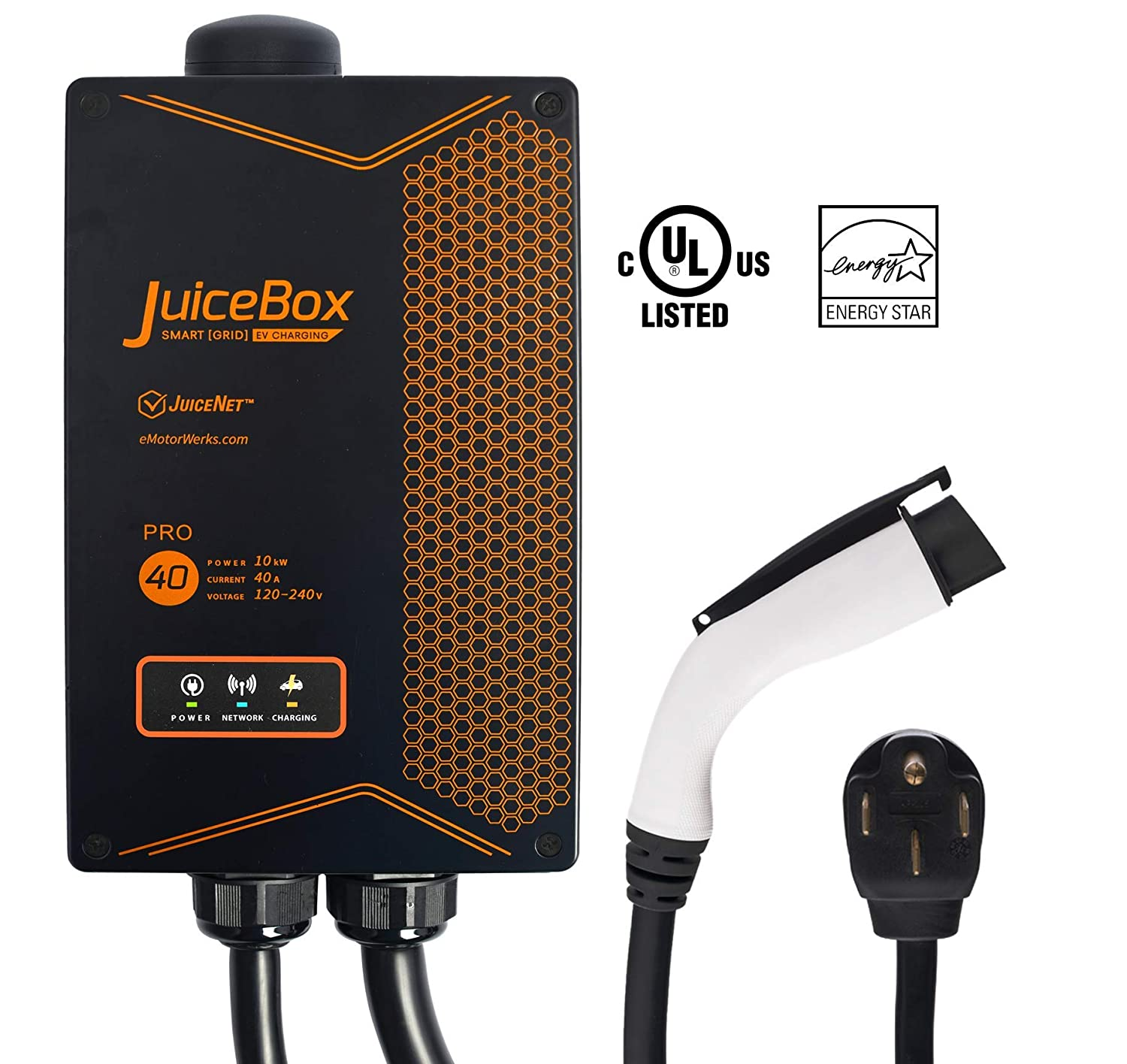 Buy JuiceBox 40A Plug-in Electric Vehicle L2 Home Charging Station with 24-foot cable and NEMA 14-50 plug