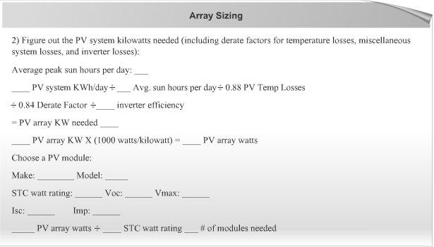 Understand home solar power system design with this detailed walk solar array sizing worksheet keyboard keysfo Images