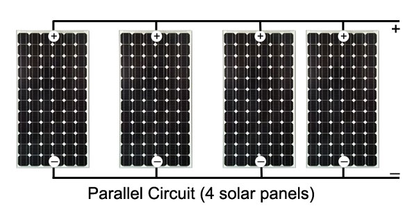 parallel connected solar array