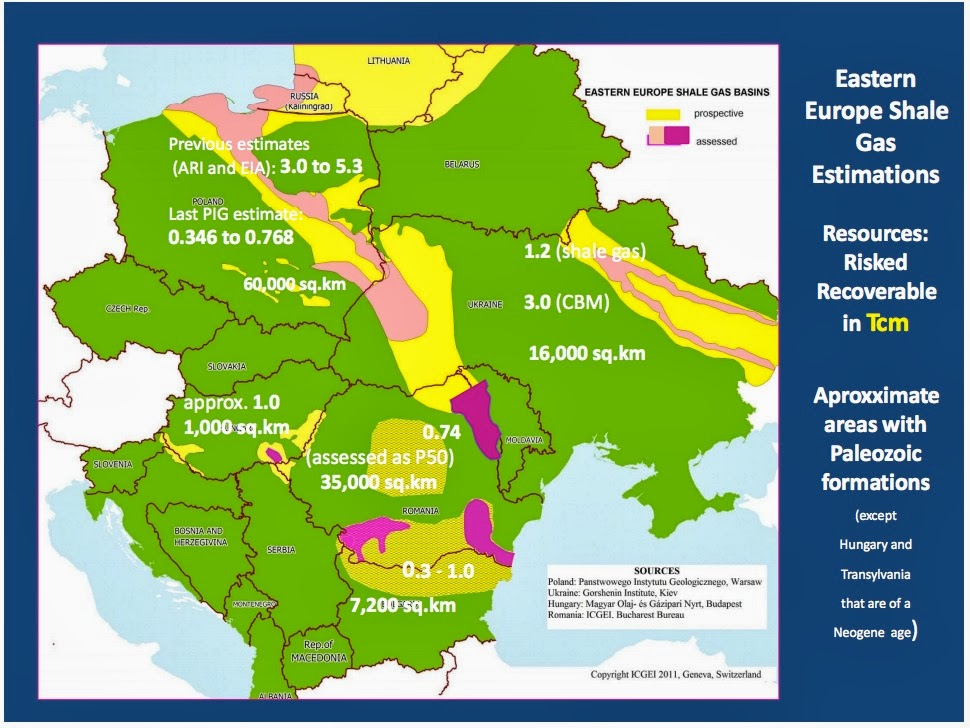 Paleozoic Paleozoic Shale Gas Plays Of The Eastern Europe Romania - Where is romania on a map